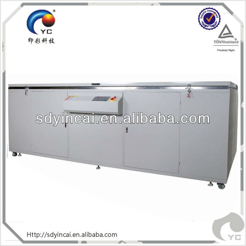 Large-size screen exposing unit with uv lamp