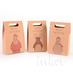 Custom Made Promotional Cheap High Quality Small Brown Kraft Paper Bags For Gift Packing
