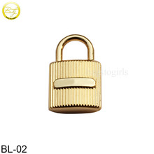 BL02 High Quality Metal Bag Padlock Decorative Lock handbag hang lock