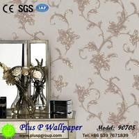 Italian waterproof wallpaper china bedroom PVC embossed wallpaper