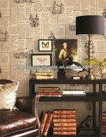 2014 new Arrival business site of pvc wallpaper