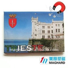 wholesale 100% Free Custom Logo Trieste Iron Fridge Magnets for Tourist souvenirs