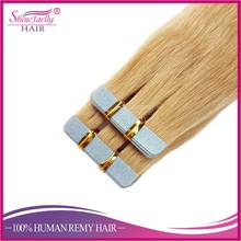 Factory Wholesale #24 tape hair extensions replacement tape 22 inch 40 piece tape human hair extensions