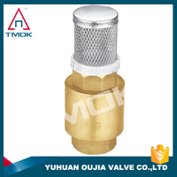 Brass valve body color and a compact high rate and filter quality check valves