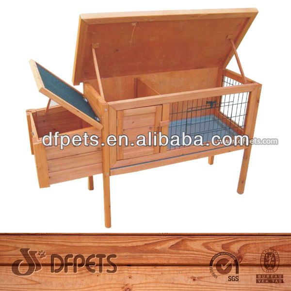 Wooden Single Rabbit Hutch With High Feet Wholesale DFR050