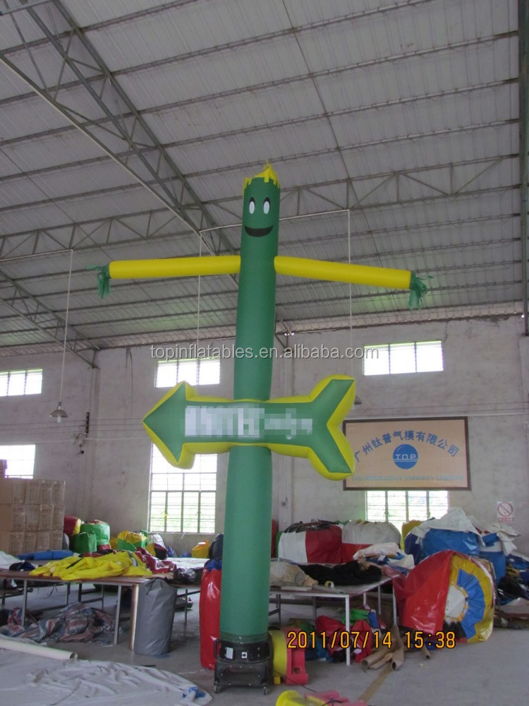 Factory price inflatable man of arrowhead air dancer for advertising