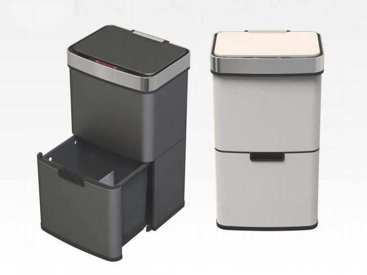 Big capacity home use decorative trash bin