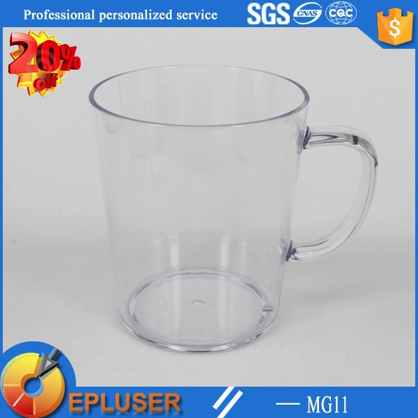 Stocked plastic mugs for kids 12oz handle cups