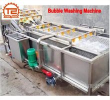 Water Spray Vegetable and fruit Bubble Washing and cleaning machine