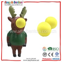 Toys Catapult Mini Plastic Deer Toys With Ejection Ball Deer