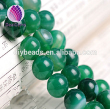 wholesale semi gemstone 6 mm 8mm 10mm 12mm green striped round agate beads blue banded loose beads