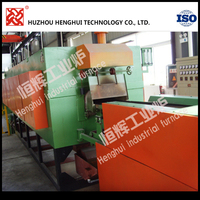 Continuous mesh belt sintering furnace for carburizing or hardening