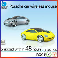 2016 Newest Cordless USB Optical Racing Car wireless mouse without battery