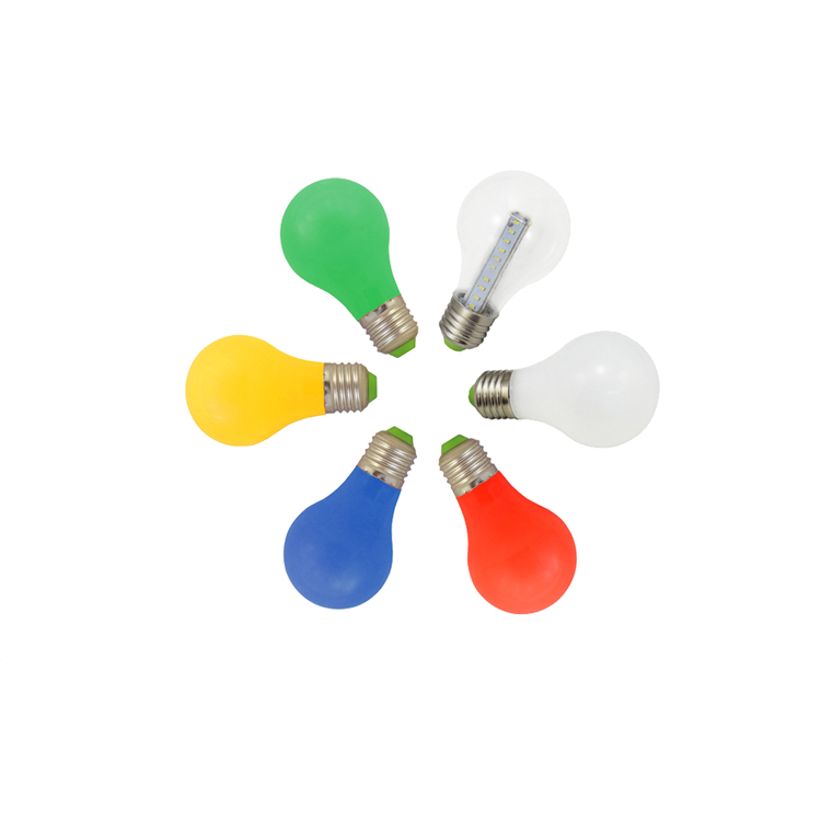 Gold supplier Colourful <strong>bulb</strong> 2700k E27 LED lamp aluminum material led <strong>bulbs</strong> for festival decoration