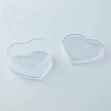 2018 Kwang Hsieh Hot Sell Clear Plastic Bauble Function Heart Shaped Box