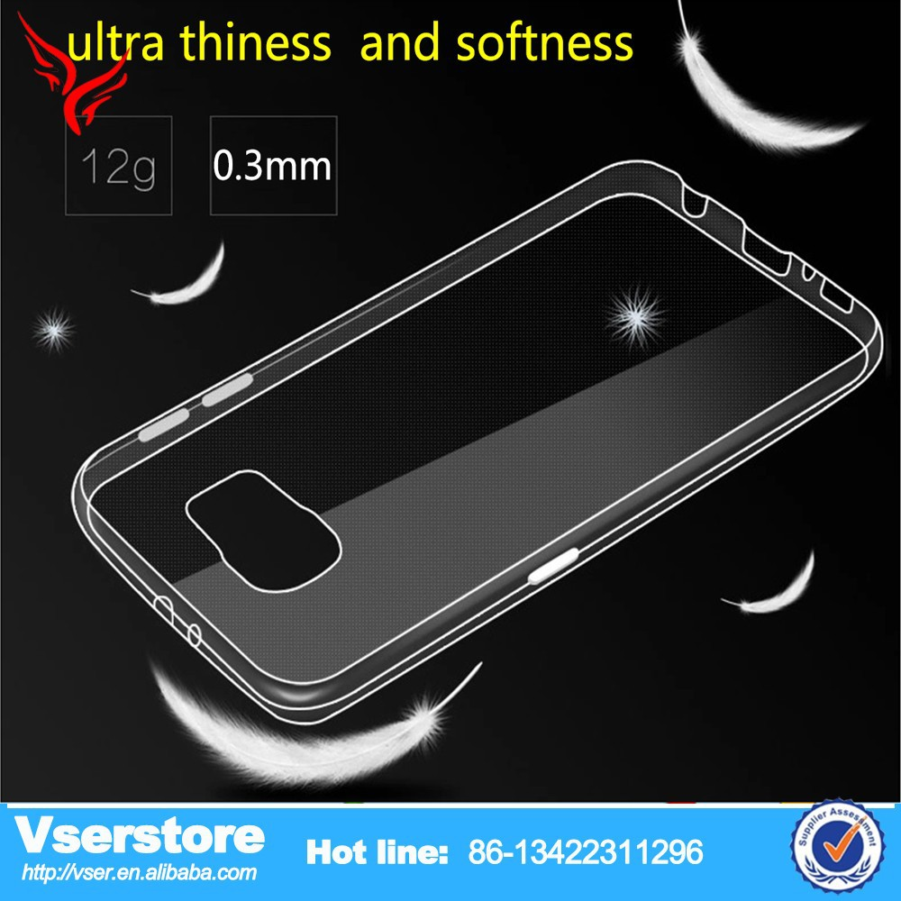 new hot selling products 0.3mm thin clear silicone phone case for samsung galaxy s6 clear back cover