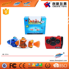 Radio Control Toys Lovely Clownfish 2.4V 4CH Plastic Mini RC swimming Fish
