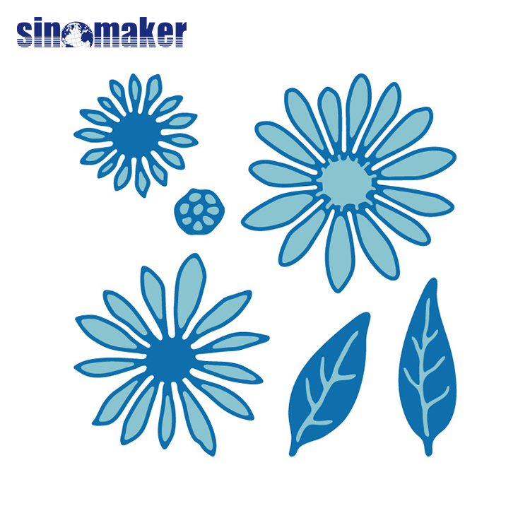 0.8mm thickness flower shape metal cutting die designs for kids