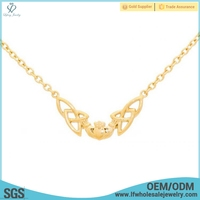 Fashion types of 1mm 14 k 4 gram solid gold filled chains necklace jewelry