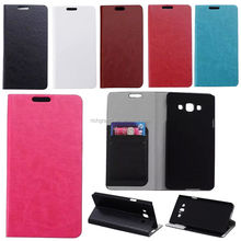 PU leather wallet flip slots holder stand cover skin case For Samsung S3 S4 S5