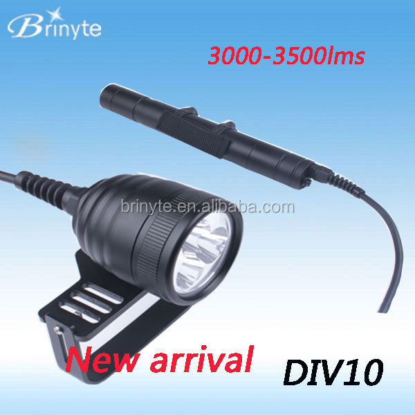 Wholesale Brinyte DIV10 canister led <strong>dive</strong> <strong>torch</strong> with three channel charger