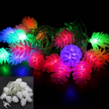 Solar/Battery /Adapter Pine Cone string Christmas Lights solar pathway lights lamps for home decoration led string light