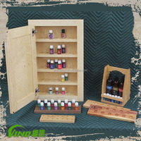 Essential Oil Wood Display Cabinets And