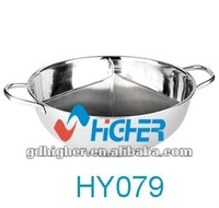 stainless steel 3divided buffet soup pot