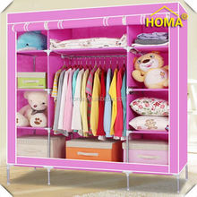 HOMA portable non woven assemble fabric wardrobe