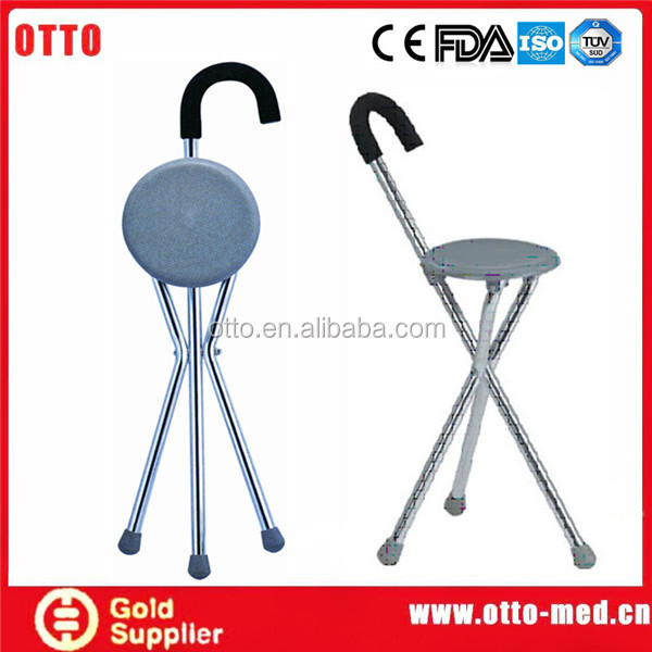 stick folding chair Foldable walking cane seat