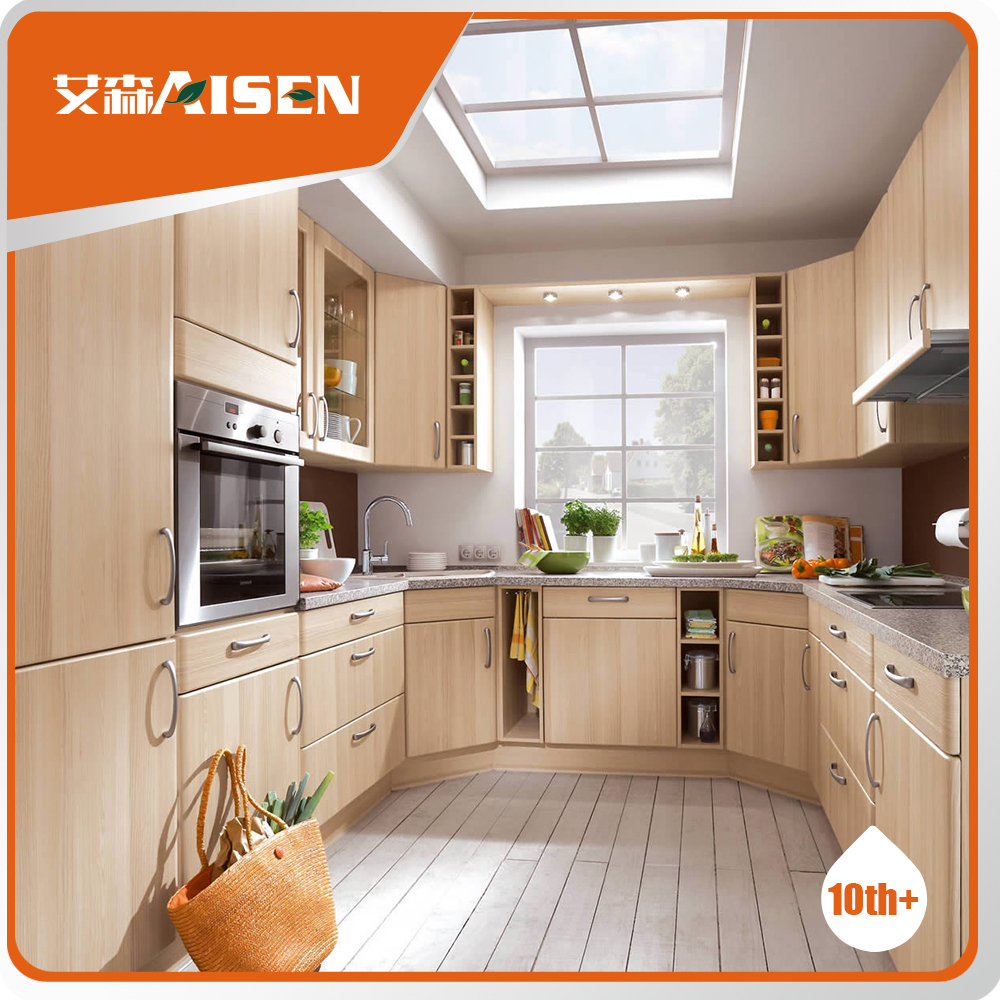 Natural Look Kitchen Ready To Install Kitchen Cabinets Modular Control Pvc  Kitchen Cupboard