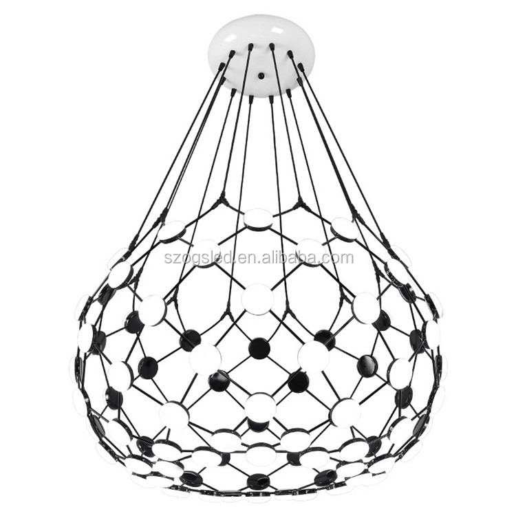 Contemporary entrance hall crystal chandelier lighting, modern Black White acrylic Ball chandelier