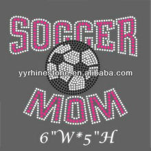 crystal soccer mom rhinestone heat applied transfers