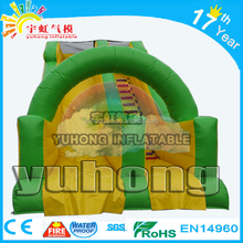 Top saled 2017 new SA cartoon green color pvc Ben inflatable water slide