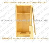 wooden wine box with slide lid