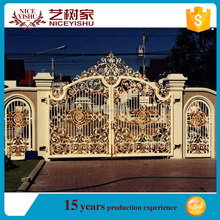 Yishujia factory luxurious wrought iron gate designs, modern residential gate design philippines
