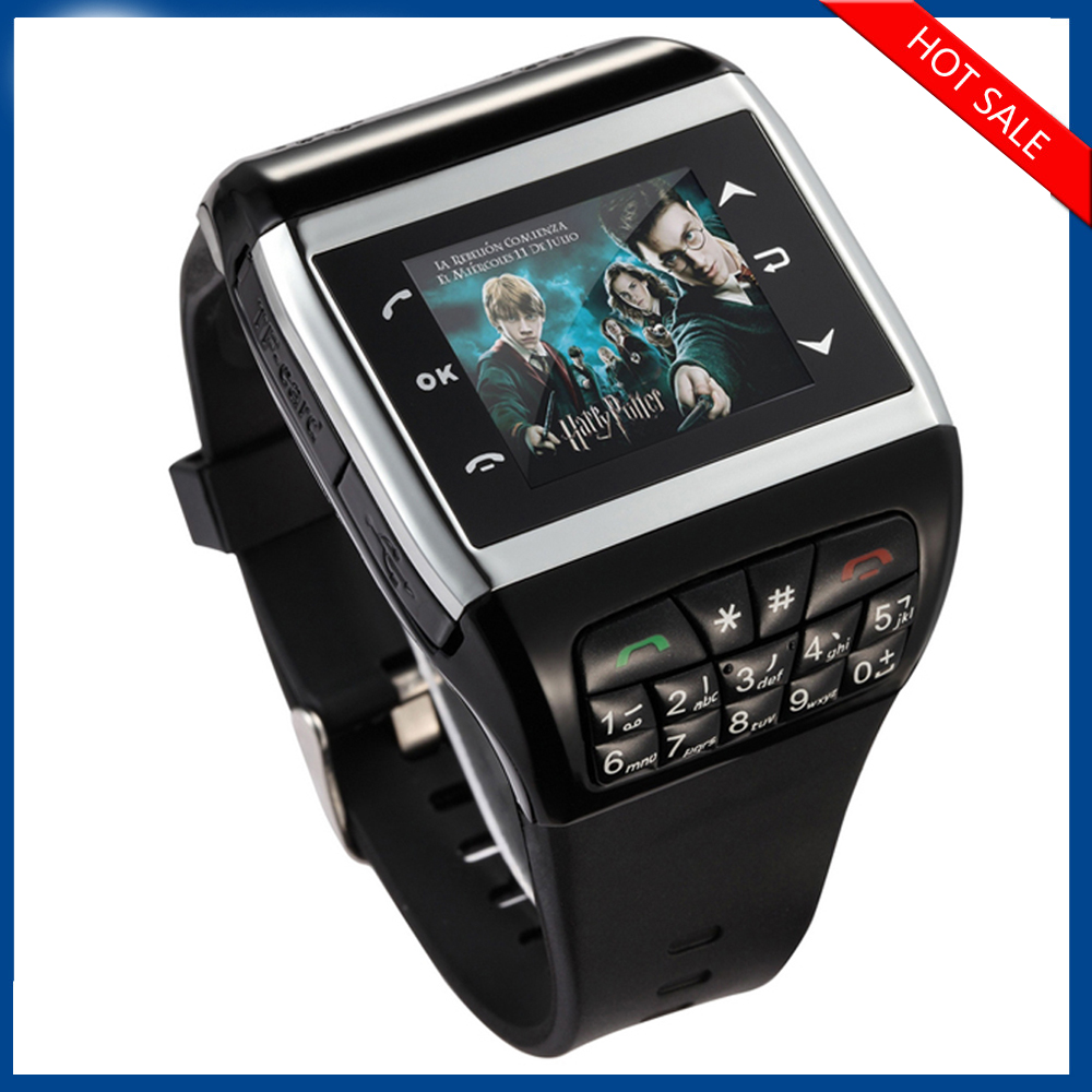 China watch mobile phone Q7 with Dual sim card Quad band