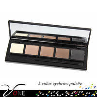 Cheap and high quality 5 colors eyebrow palette eyebrow powder with brush