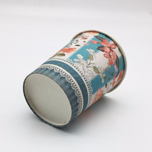 Beautiful Colorful Flowers Pattern Paper Cup for water milk coffee tea