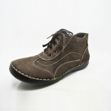 laced up soft leather upper ankle shoes boots for men