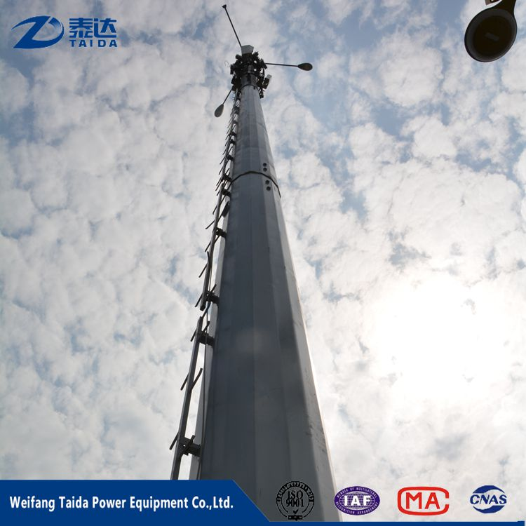 10-220kv galvanized transmission power line steel tubular pole
