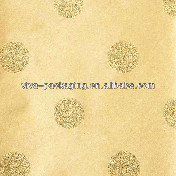 Gold Metallic Dots Tissue Paper