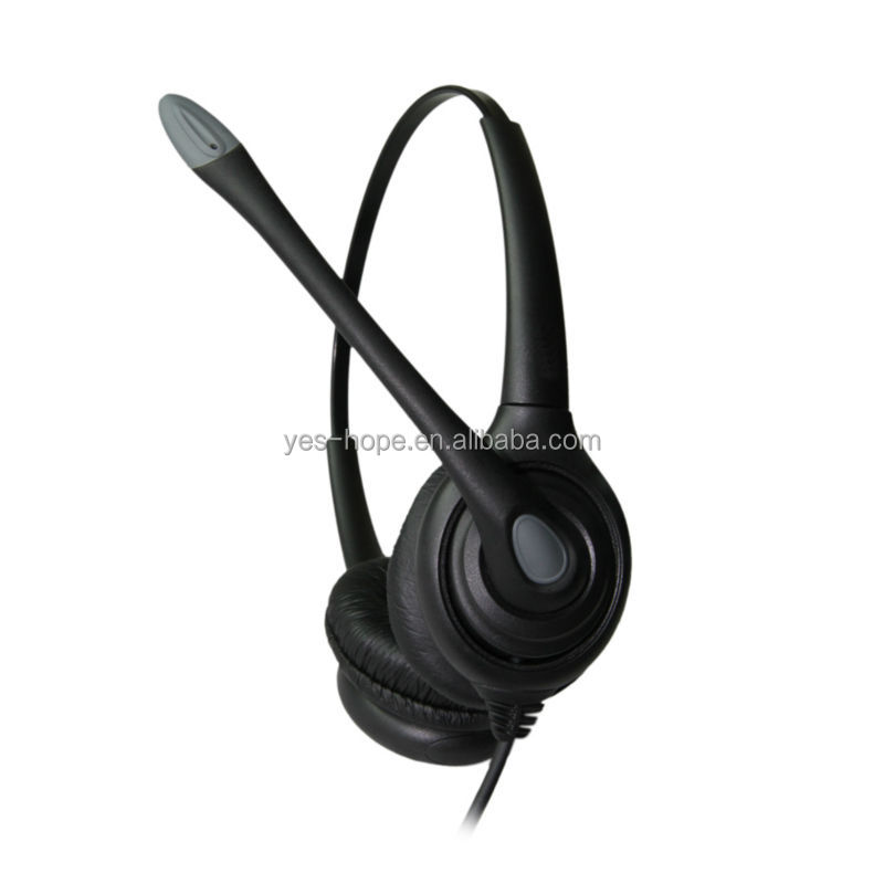 RJ9 plug call center headset telephone used