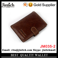 High-grade mens wallet genuine leather china purse man hand clutch with picture holder