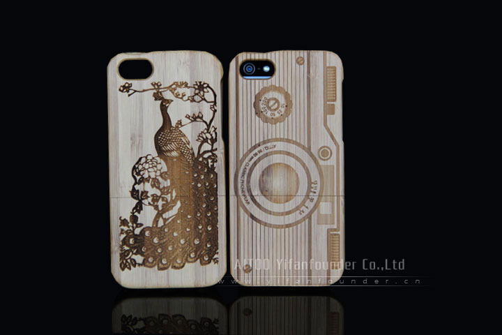 2-piece wooden case for iphone5/5s wood cell phone cover