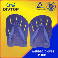 Waterproof silicon swimming gloves