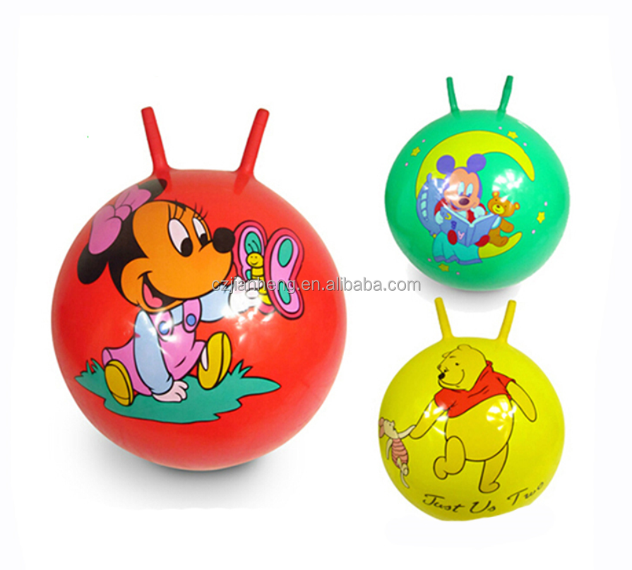 Yoga ball jumping ball for kids hopper ball with two sticks eva foam rubber for shoe sole material