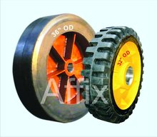 Solid tyre, Ball mill rubber lining, Rubber spare parts