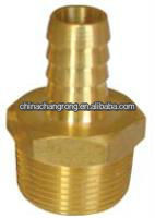 "New Brass Fitting Connector 1/2"" Hose Barb x 3/8"" NPT Male Fuel Gas Water"