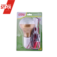 Solar 3W E27 12V DC LED Light Bulb with 4M Cable Clamp Switch